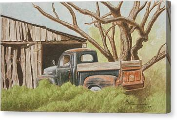 Daddys Pickup Canvas Print by C Wilton Simmons Jr