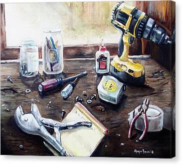 Dad's Bench Canvas Print by Shana Rowe Jackson