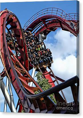 Daemonen - The Demon Rollercoaster - Tivoli Gardens - Copenhagen Canvas Print