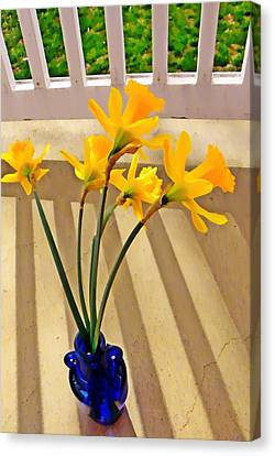 Daffodil Boquet Canvas Print by Chris Berry