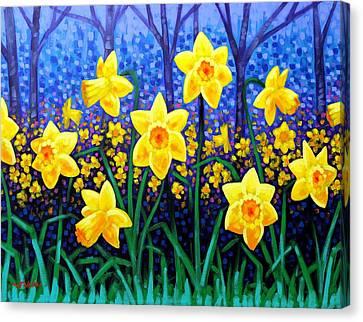 Nature Poster Art Canvas Print - Daffodil Dance by John  Nolan