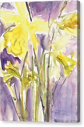 Daffodils Canvas Print by Claudia Hutchins-Puechavy