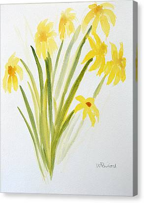 Daffodils For Mothers Day Canvas Print by Wade Binford