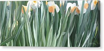 Daffodils In The Midst Canvas Print
