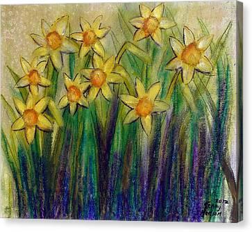 Daffodils Canvas Print by Kenny Henson