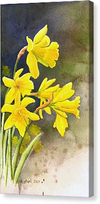 Daffodils Canvas Print by Rick Huotari