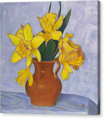 Daffodils Canvas Print by Robie Benve