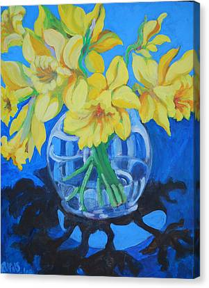 Daffodils Canvas Print by Rufus Norman