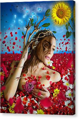 Dafne   Hit In The Physical But Hurt The Soul Canvas Print by Alessandro Della Pietra
