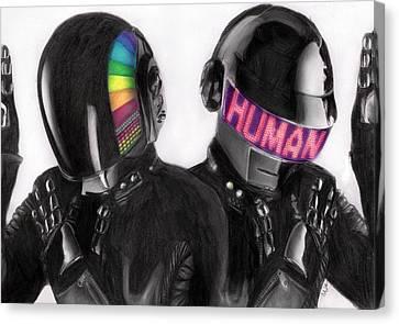 Daft Punk Canvas Print - Daft Punk by Nat Morley