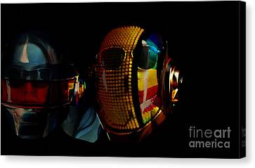 Daft Punk Pharrell Williams  Canvas Print by Marvin Blaine