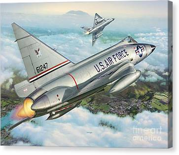 Daggers Of Defense Canvas Print by Stu Shepherd