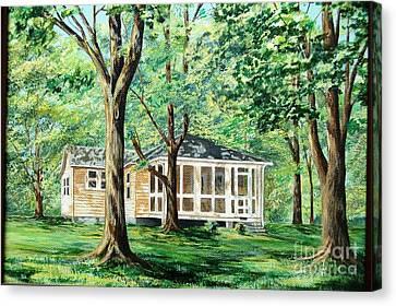 Dahlgren Home Canvas Print by AnnaJo Vahle