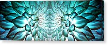 Dahlia Flower Art Canvas Print by Sumit Mehndiratta