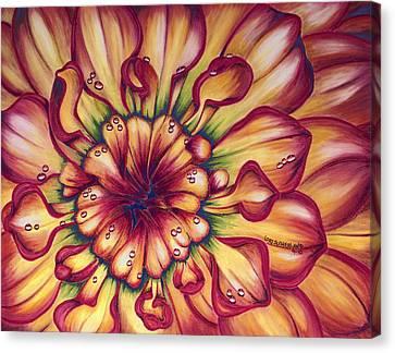 Dahlia Rainbow Canvas Print