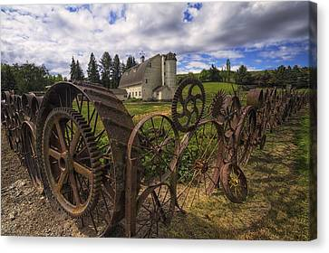 Dahmen Barn Canvas Print by Mark Kiver