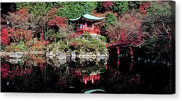 Daigo-ji Temple In Autumn, Fushimi-ku Canvas Print by Panoramic Images