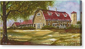 Dairy Barn At Texas Tech University 2 Canvas Print by Tim Oliver