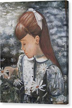 Daisey Girl Canvas Print