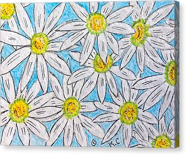 Daisies Daisies Canvas Print by Kathy Marrs Chandler