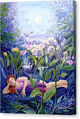 Daisy Chain Canvas Print by Trudi Doyle