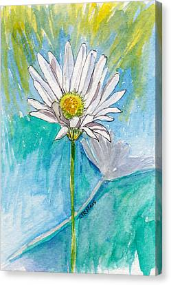 Canvas Print featuring the painting Daisy Expression by Julie Maas