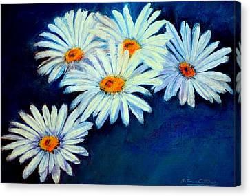 Daisy Fever  Pastel Canvas Print by Antonia Citrino