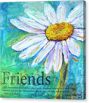Daisy Friends Canvas Print by Lisa Fiedler Jaworski