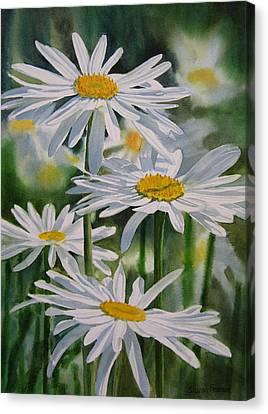 Realistic Canvas Print - Daisy Garden by Sharon Freeman