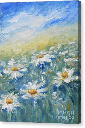Daisies Canvas Print by Jane  See