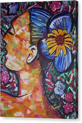 Daisy Canvas Print by Linda Vaughon