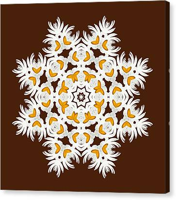 Daisy Mandala  12t Canvas Print by Variance Collections