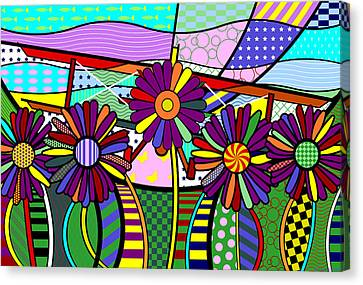 Canvas Print featuring the digital art Daisy Plane by Randall Henrie