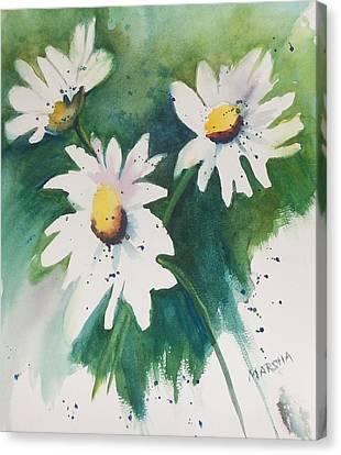 Daisy Print Canvas Print