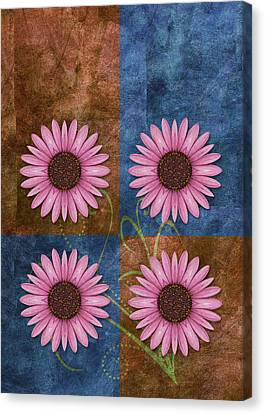 Daisy Quatro V04 Canvas Print by Variance Collections