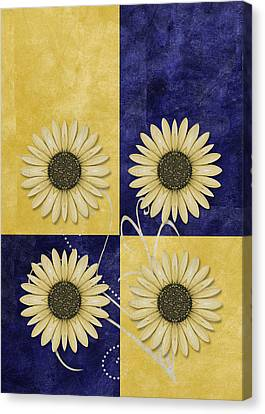 Daisy Quatro V09 Canvas Print by Variance Collections