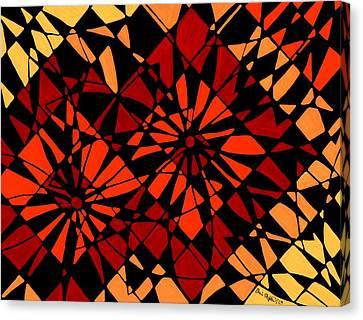 Daisy Sunset Abstract Canvas Print