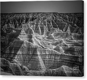 Dakota Badlands Canvas Print by Perry Webster