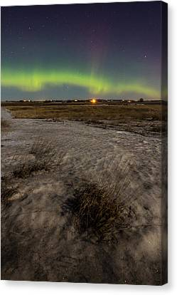 Dakota Lights Canvas Print by Aaron J Groen