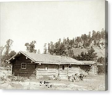 Dakota Log Cabin, C1887 Canvas Print