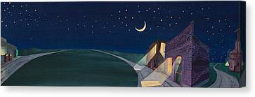 Canvas Print featuring the painting Dakota Moon II by Scott Kirby