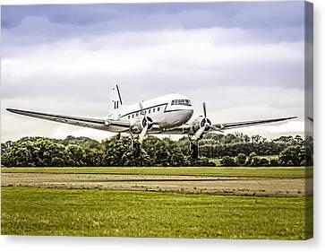 Transportion Canvas Print - Dakota Take-off by Chris Smith