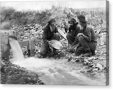 Prospector Canvas Print - Dakota Territory Gold Miners by John C. H. Grabill