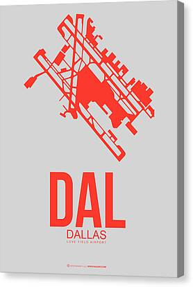 Dal Dallas Airport Poster 1 Canvas Print by Naxart Studio