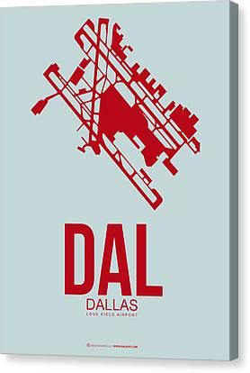 Dal Dallas Airport Poster 3 Canvas Print by Naxart Studio