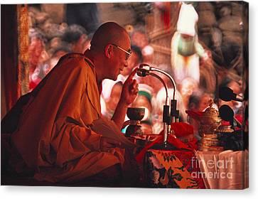 Tibetan Canvas Print - Dalai Lama, Nobel Prize 1989 by Kazuyoshi Nomachi