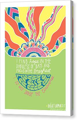 Dalai Lama Quote Canvas Print by Susan Claire