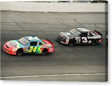 Jeff Gordon And Dale Earnhardt Canvas Print by Retro Images Archive