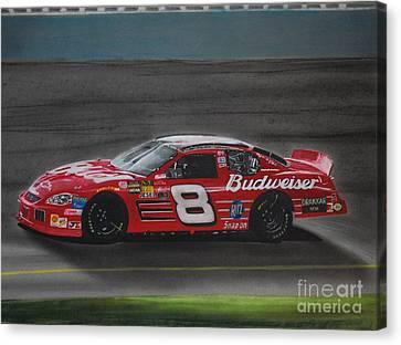Racing Canvas Print - Dale Earnhardt Junior At California by Paul Kuras