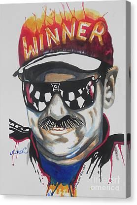 Dale Earnhardt Sr Canvas Print by Chrisann Ellis